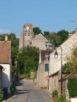 Rue du Pilori et église